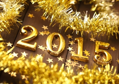 Gold Happy New Year 2015